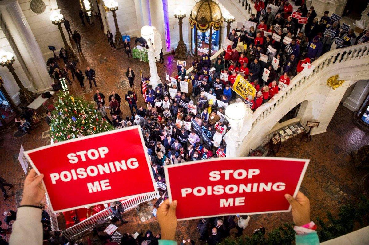 Hey hey, ho ho, toxic schools have got to go!
