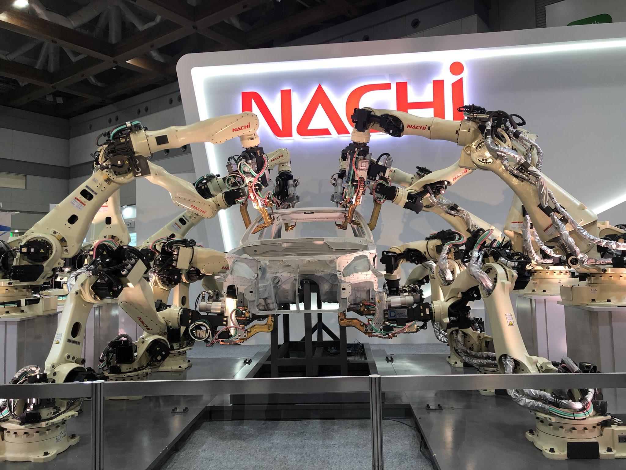 """澤田陽子 / Yoko Sawada on Twitter: """"2019国際ロボット展 NACHIロボットたちが皆さまをお迎えしております(*´꒳`*)✨✨✨ #国際ロボット展2019 #NACHI… """""""