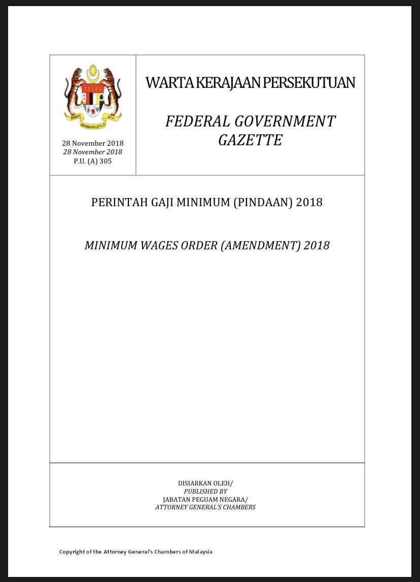 Tahun Depan Gaji Minimum Pekerja Di Malaysia Naik Menjadi Rm 1 050 Liputanbmi