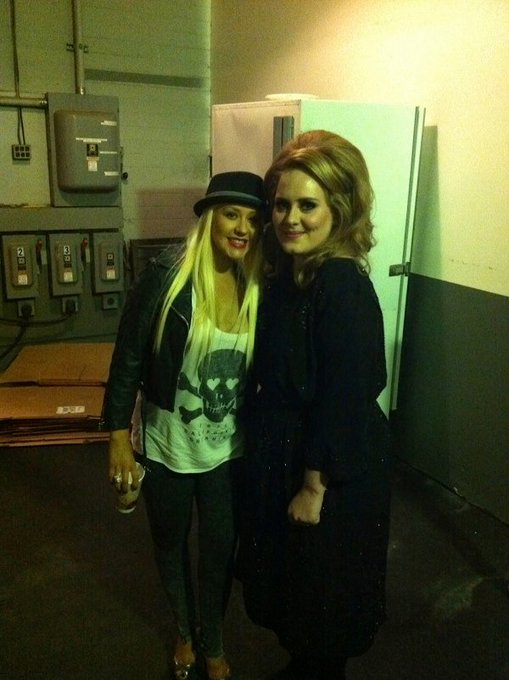 Happy Birthday to Christina Aguilera Adele with Christina in 2011