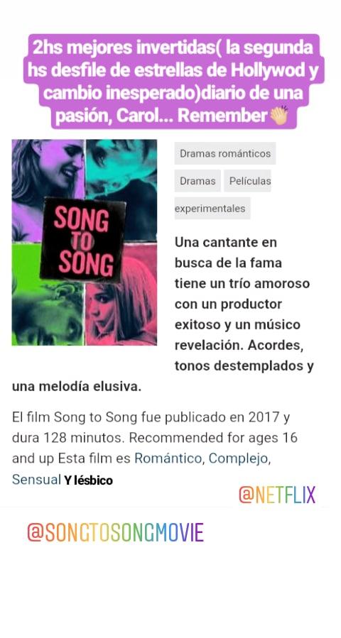 #ryangosling #rooneymara #cateblanchet #natalieportman #michaelfassbender  etc etc( todo en una peli) por favor veanla! A partir de la 2da hs se pone bueno.#Netflix  #romancenovels #lesbico #amor #peliculón #SONGTOSONG #DeCancionEnCancion RECOMENDADApic.twitter.com/Ds5NvdoiCl