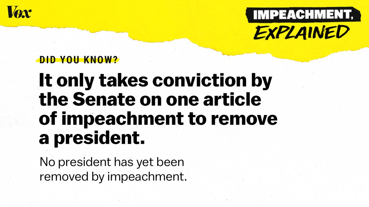 Vox On Twitter What Happens Next In The Impeachment Process The Senate Holds A Trial To Assess The House S Charges Aimed At Deciding Whether To Remove An Impeached President From Office