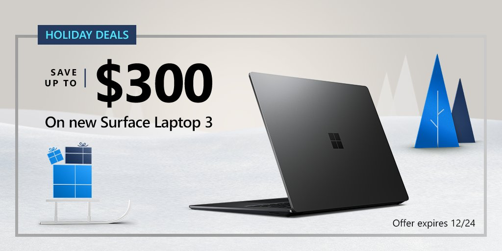Shopping for something slim and stylish? This year, #GiveWonder with the rich color options of Surface Laptop 3: http://msft.it/6016Tnifypic.twitter.com/s49uk7geXx