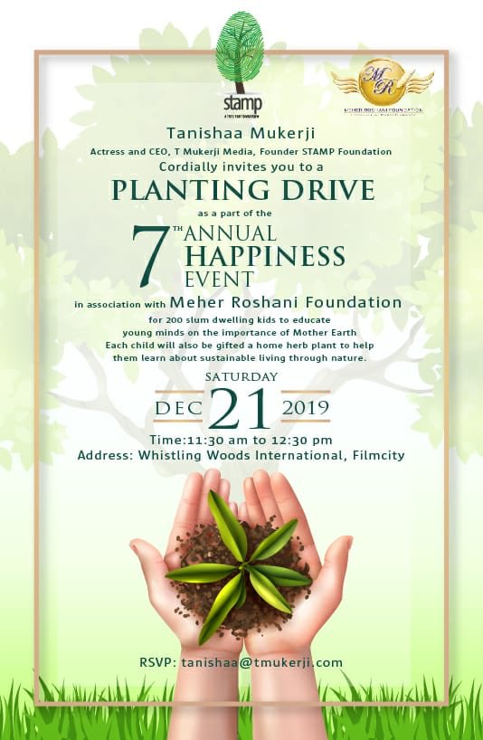 Christmasis here & what better way to spend it than with children connecting them to nature with a planting drive @Whistling_Woods #filmcitymumbai on sat 21st @ngostamp and I join hands with the @MeherRoshani to be a part of their 7th Annual Happiness event !  @roshanishenazzpic.twitter.com/mJfyqxBjjW
