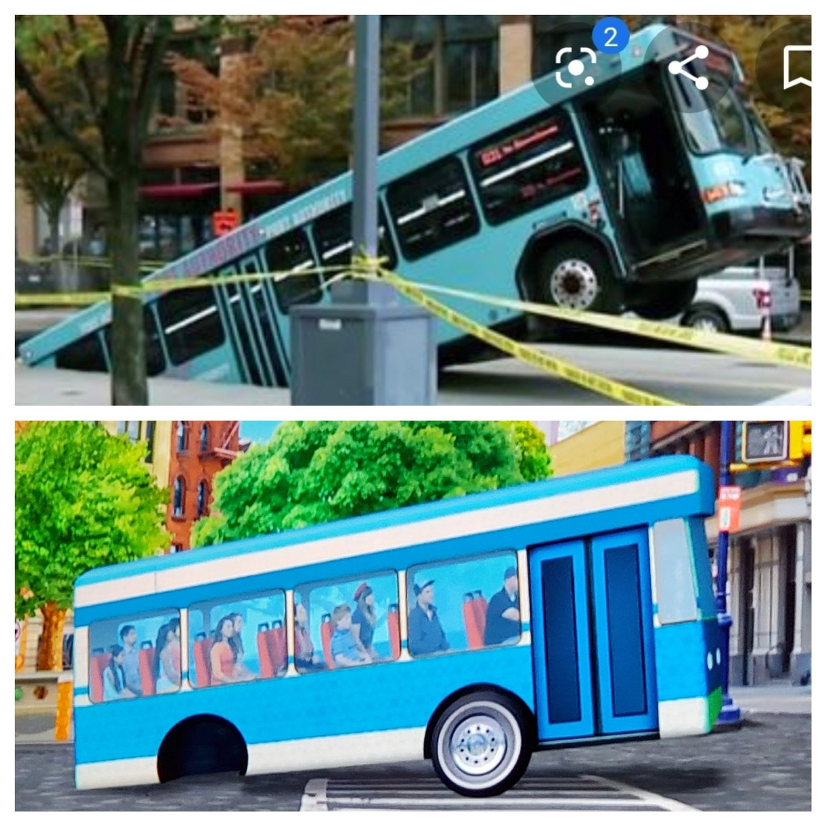 I was watching Team UmiZoomi on @nickjr  and realized they predicted the 2019 @PGHtransit  bus sinkhole years ago.  @billpeduto  #strikingresemblance  #gottawatchmorecartoons  @mikeclarkWTAE