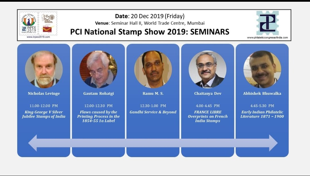 Schedule for Inpex2019 for 19th and 20th December. Donot miss the great stamp event.#Inpex2019 #STAMP #philately