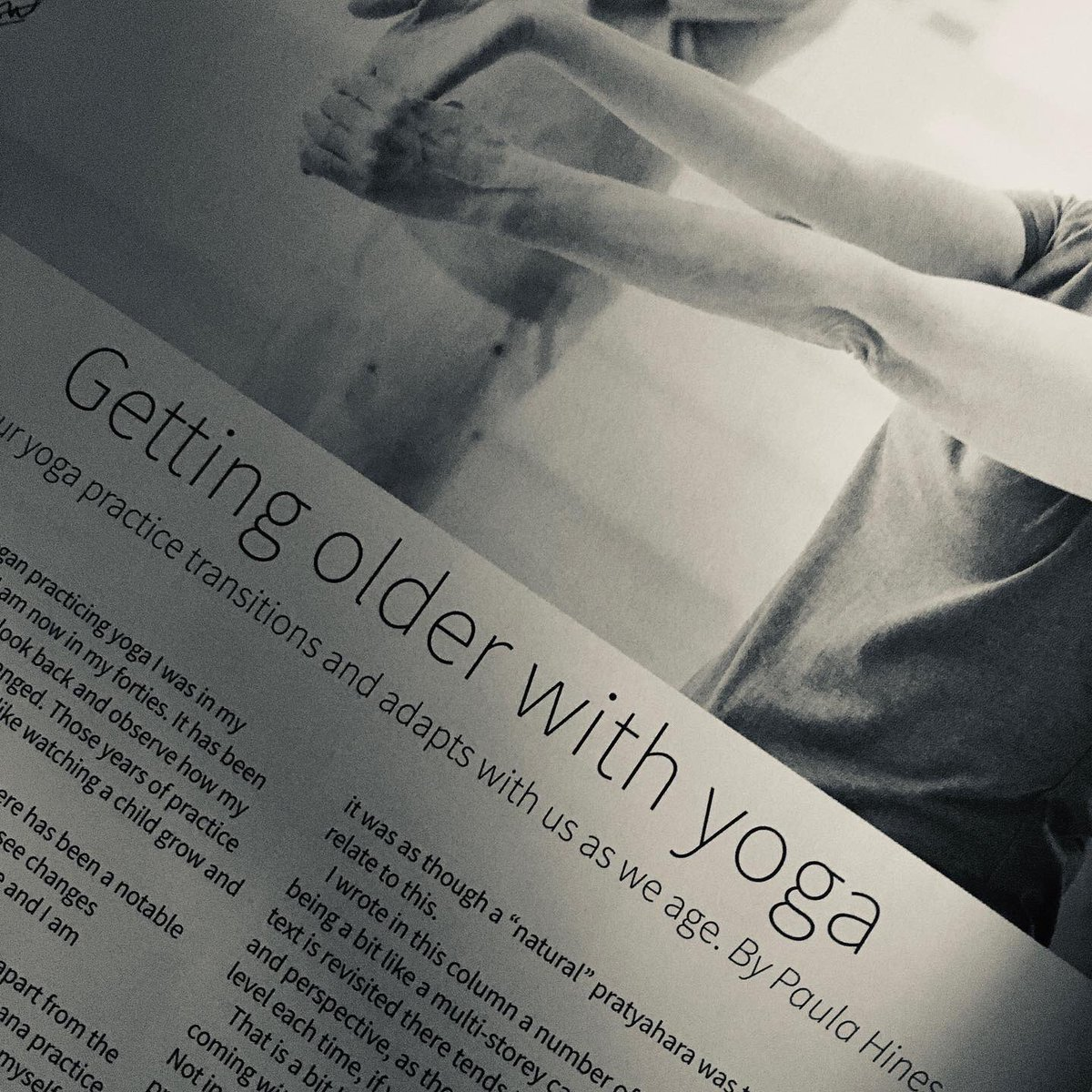 "TRANSITIONS: ""When I began practising yoga I was in my twenties. I am now in my forties. It has been intriguing to look back and observe how my practice has changed."" In the December issue of @OMYogaMagazine I write about peri-menopause, getting older … http://instagram.com/p/B55GorHn6uO/ …"