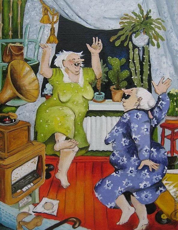 видео, смешные картинки танцующих старушек картин фото, можно