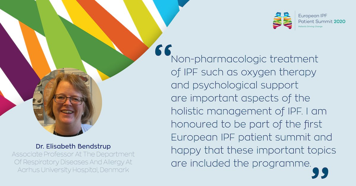 Big thank you to Dr. Elisabeth Bendstrup for providing her insights into non-pharmacological management of IPF/ILD and evaluation for lung transplant. 💭 Check out all our speakers here: euipfsummit.org/speakers/