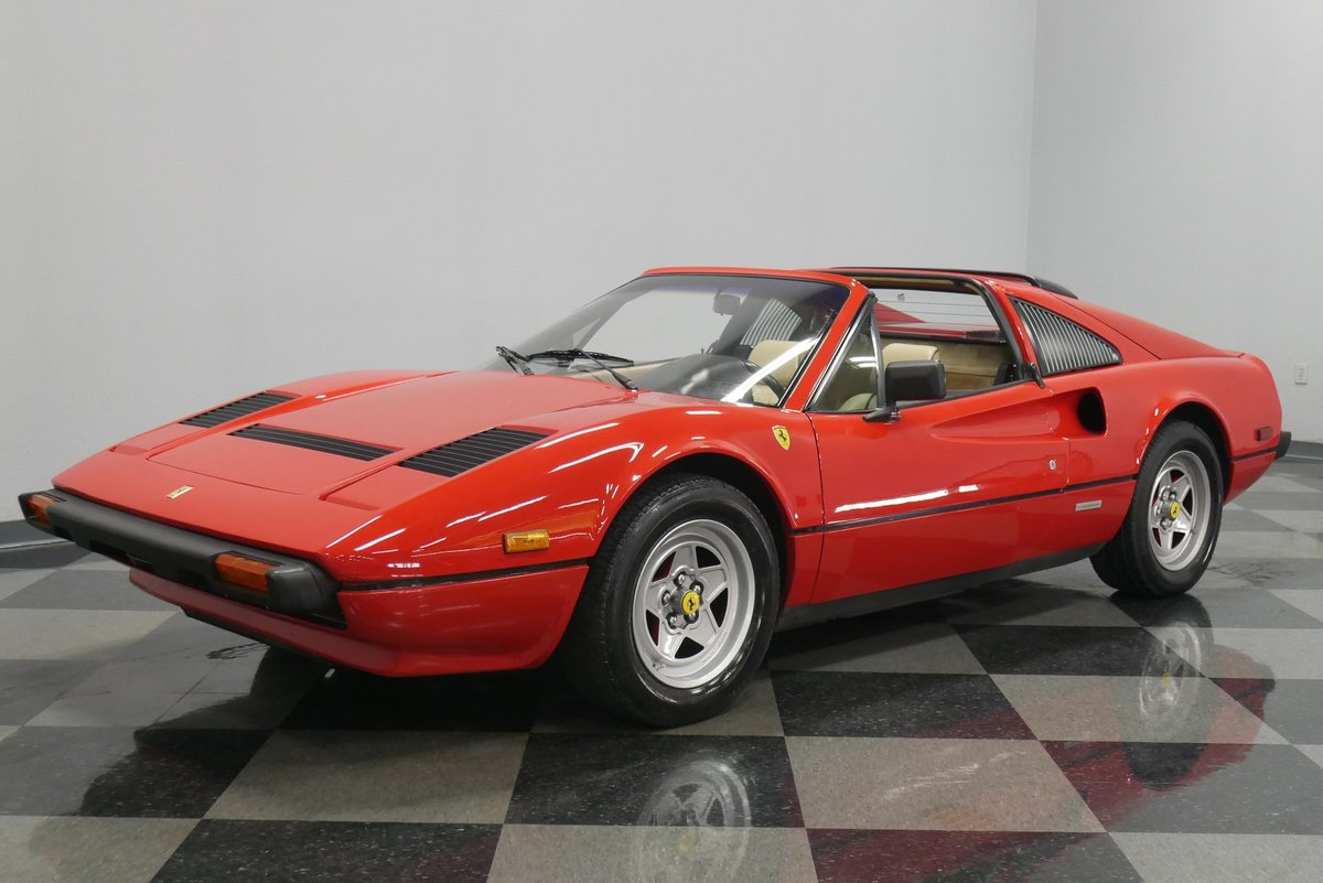 Streetside Classics On Twitter This Iconic 1984 Ferrari 308 Gts Comes Equipped With A 2 9 Liter V8 Engine And A 5 Speed Manual Transmission Link Https T Co Q8axlmsfgq Classiccar Cars Car Ride Drive Engine Horsepower Speed