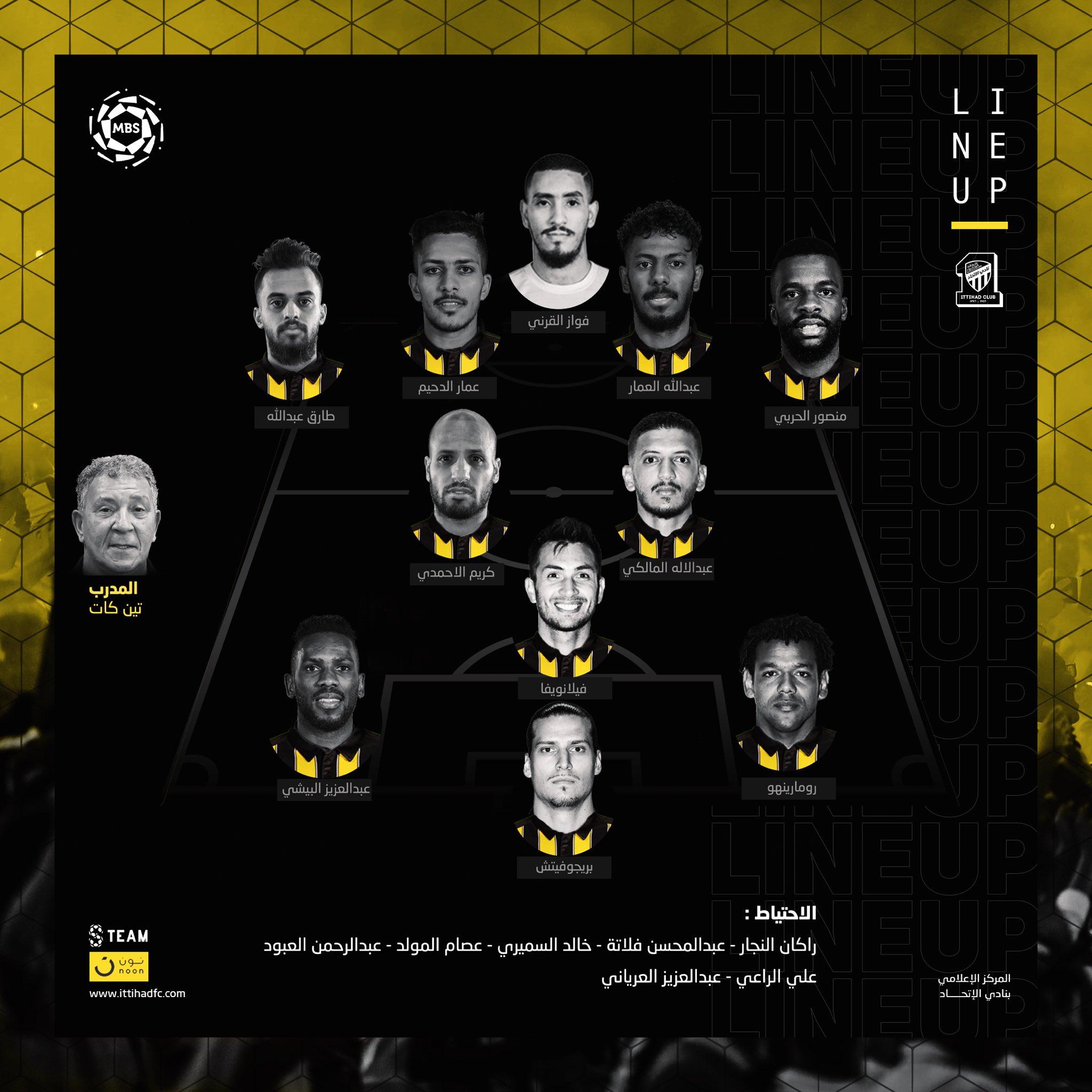 تشكيلة نادي الاتحاد في مباراة اليوم ضد الفيحاء سبورت 360