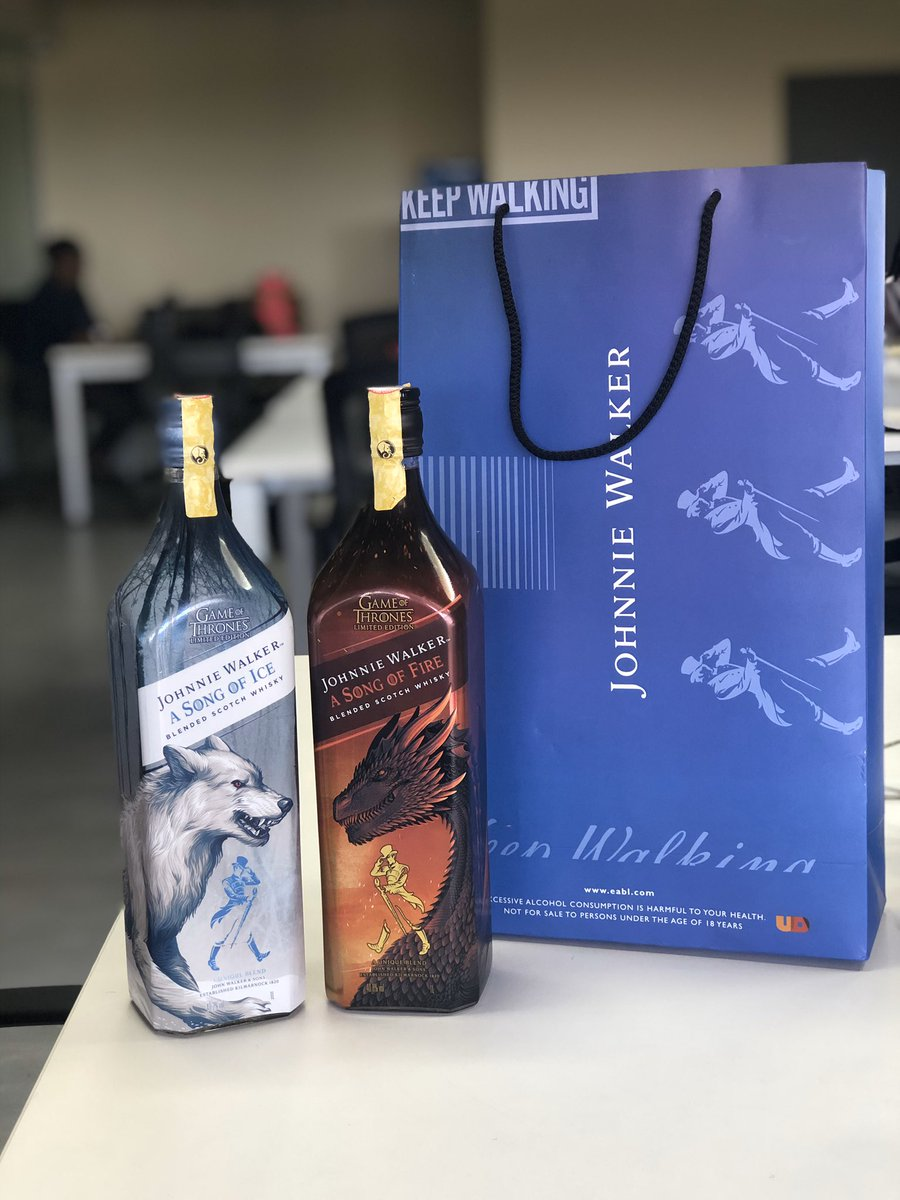 Some people receive their care packages from their S/O and others from brands. Are they the same? Thank you @JohnnieWalkerKe Weekend starts today! #JWSongofFire #JWSongofIce #ad<br>http://pic.twitter.com/H02QHRf001 – à The Mirage
