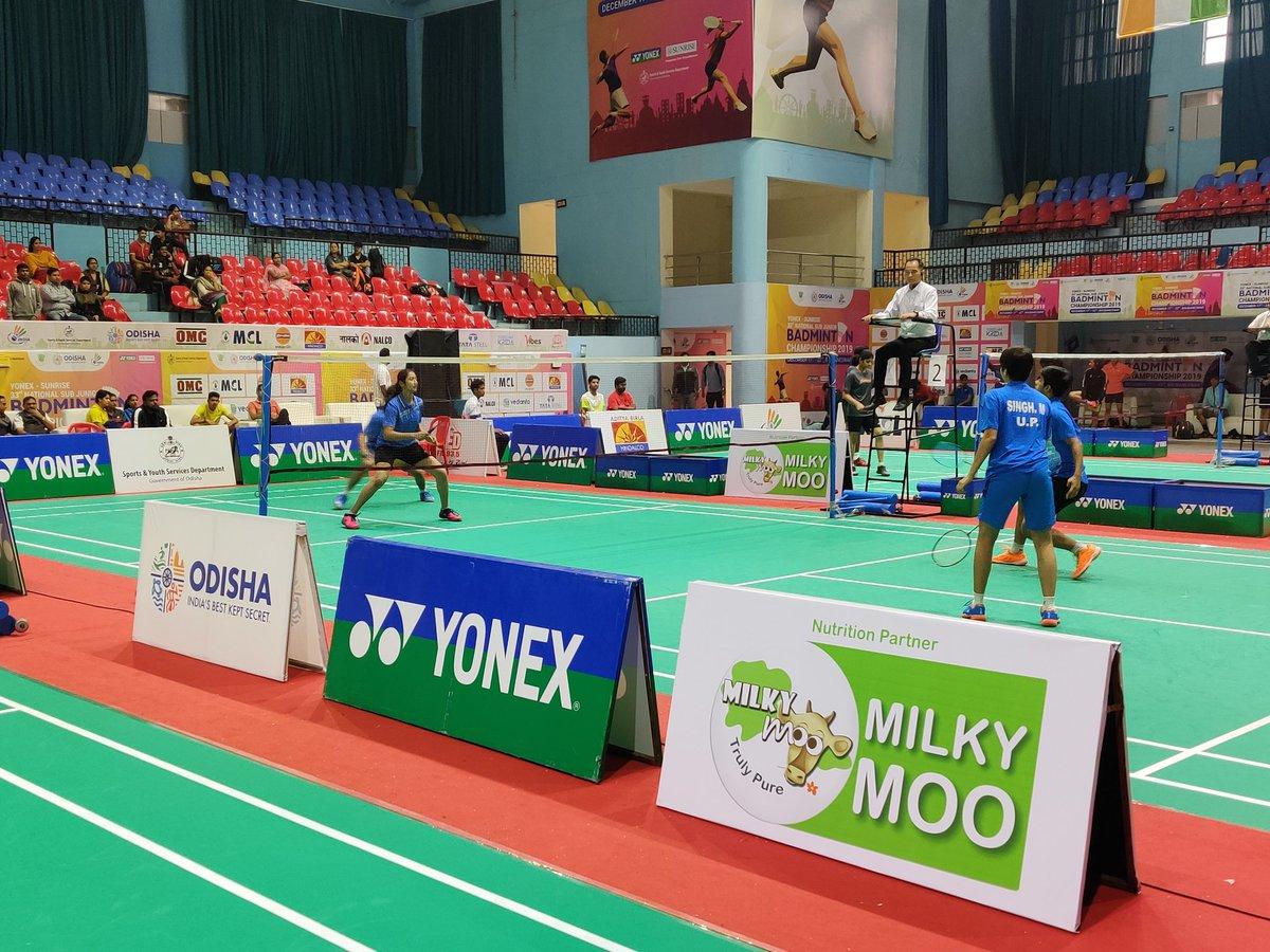#Sports + Milky Moo =  a healthy life ! We are happy to be the nutrition partner of the Yonex Sunrise National Sub Junior #Badminton Championship, held at #Bhubaneswar #BadmintonWorld #Badmintonlovers #BadmintonLife #Indiapic.twitter.com/IKcyDI79n6