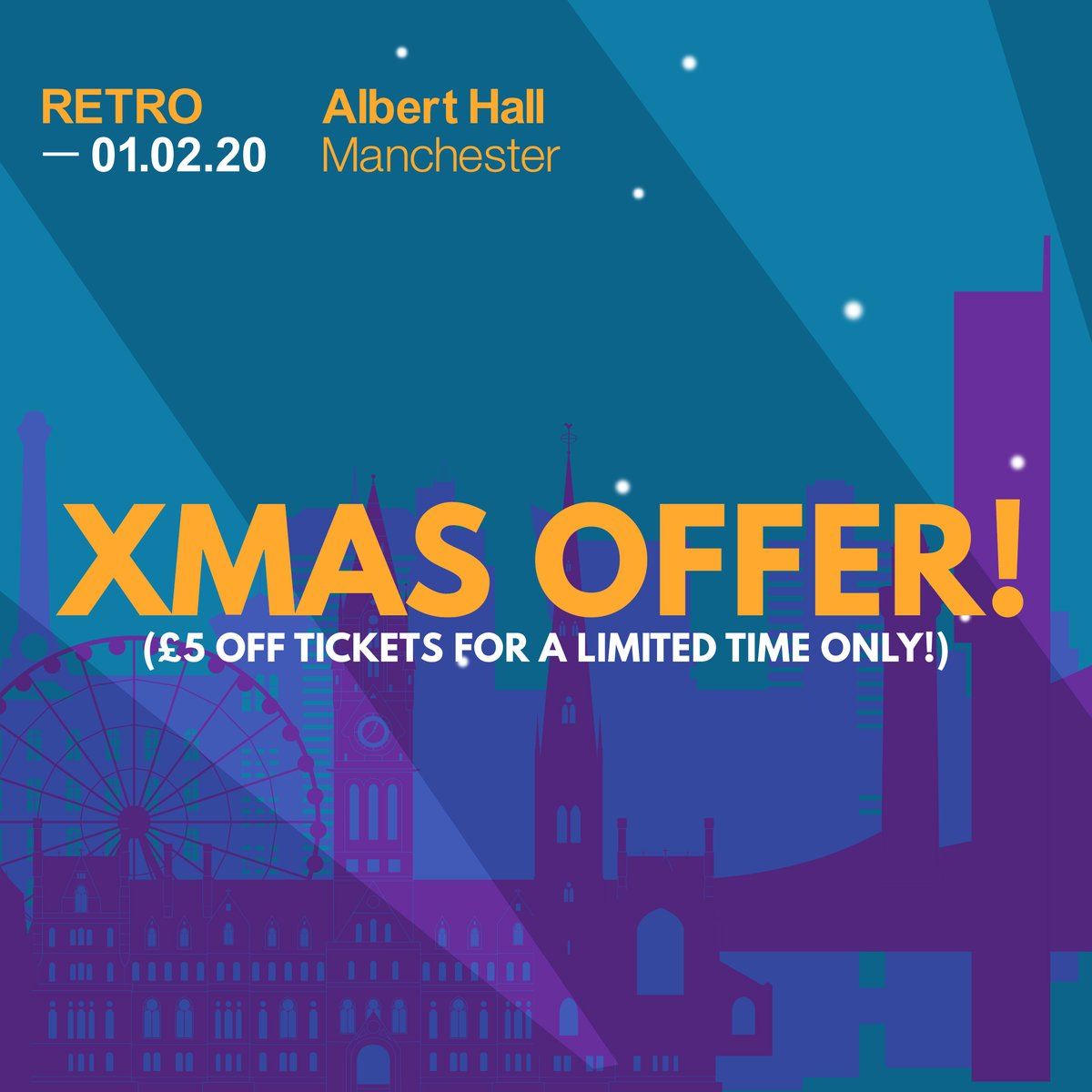 💨For a limited time only tickets for RETRO are £5 OFF, go grab one before they're gone: bit.ly/35CDXWB 💨