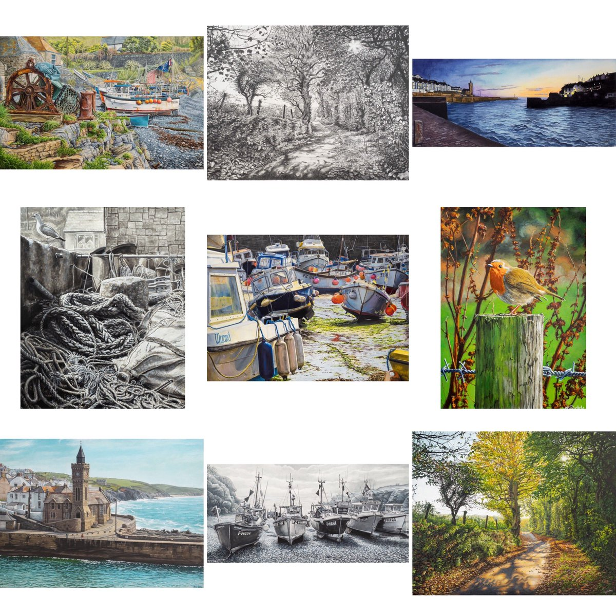 My favourite 2019 paintings and drawings    #landscapepainting #landscapedrawing #cornishlandscapeart #cornishart #cornishartist #alicehole #aliceholeartist #bestnine2019 #bestnine  #2019artistwrapped  #art2019 #2019art #art <br>http://pic.twitter.com/OvTsM2K49h