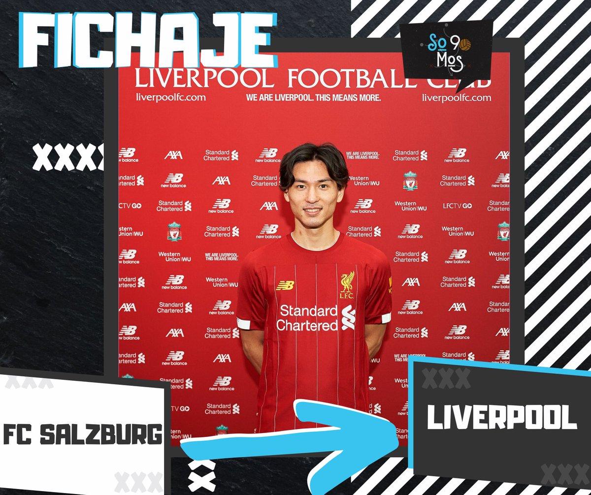 OFICIAL: Takumi Minamino es el nuevo refuerzo del #Liverpool. Delantero, de 24 años, que llega procedente del #FCSalzburg.pic.twitter.com/tDdbWlicxw