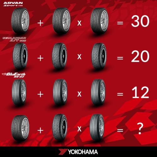 Does the thrill of math excite you?  #nationalmathematicsday is around the corner, and we have a small puzzle for you to solve. Correct answers till Dec 24th stand a chance to win Yokohama goodies! #Nationalmathematicsday #YokohamaIndia #quiz #contest #contestalert #puzzle