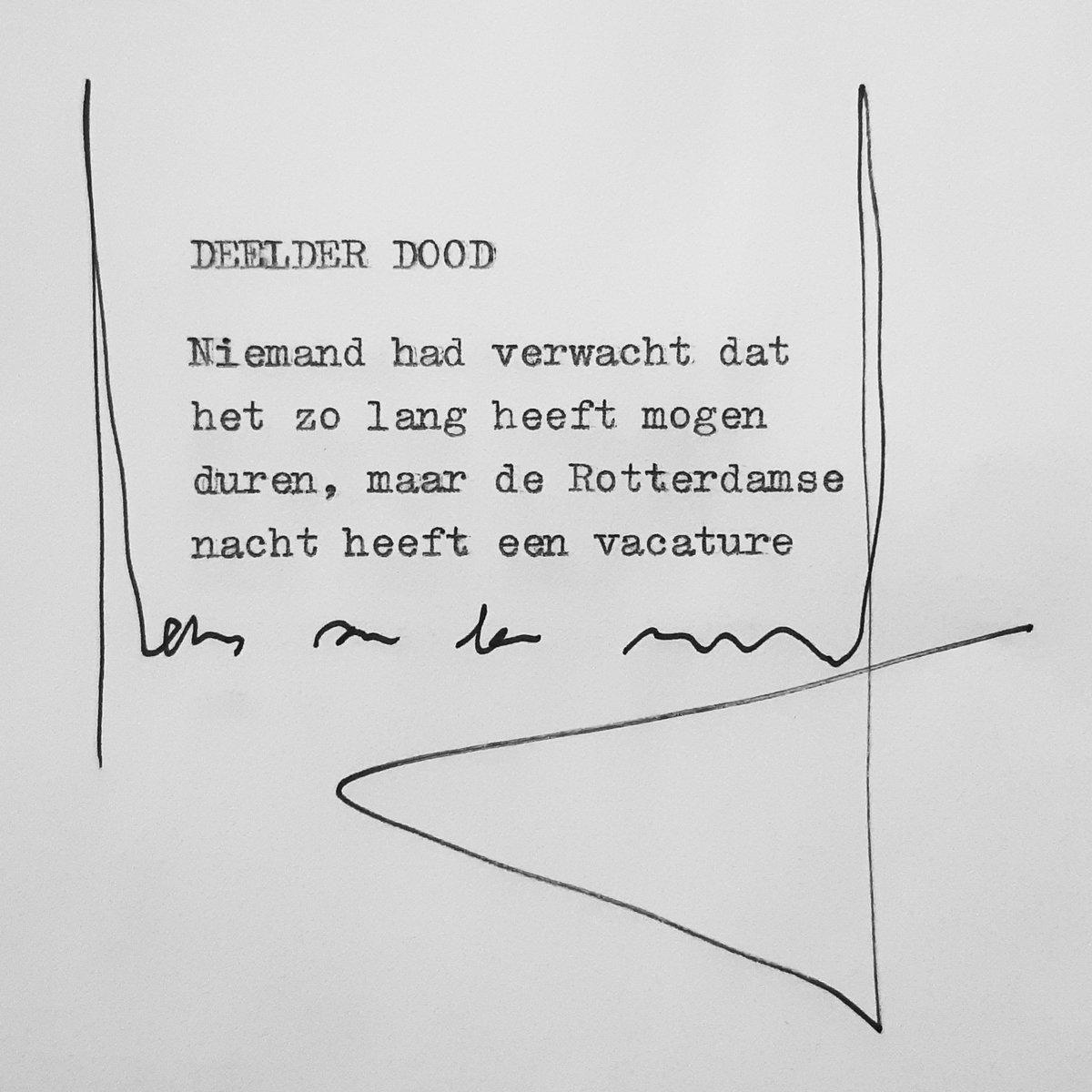 Teruglezen Zo Eert Twitter Jules Deelder Rijnmond