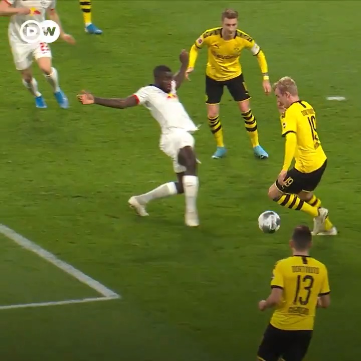 Missing football? Here's #BVB's Julian Brandt being incredible at it. You're welcome.