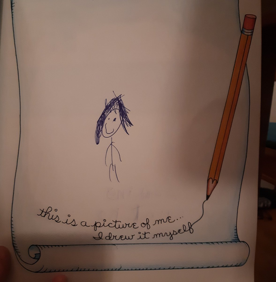 I went through a box of childhood ephemera and found the answer to 'Why don't you illustrate your own books?'