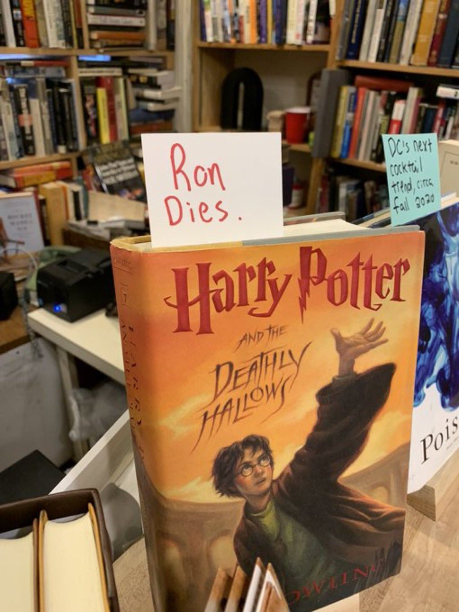 Welp. Now we don't have to feel bad about the fake spoilers we stick in all our JK Rowling books.