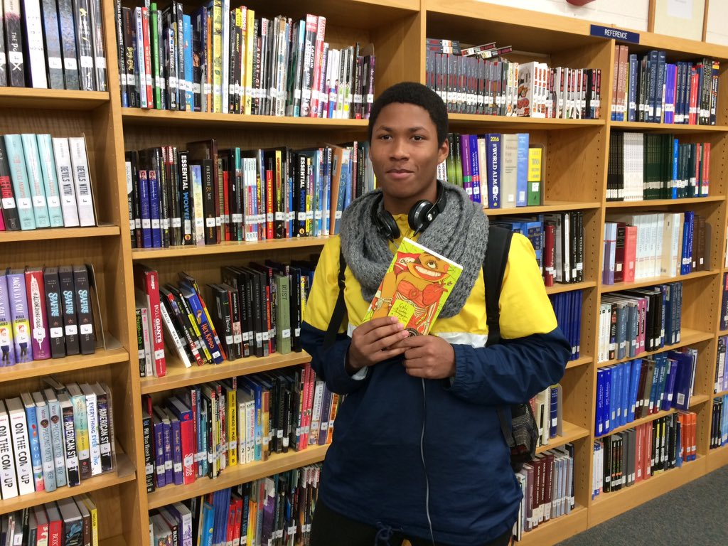Congrats to top readers this semester: Wallace (pictured), Ayinde, and Emari! #leadersread