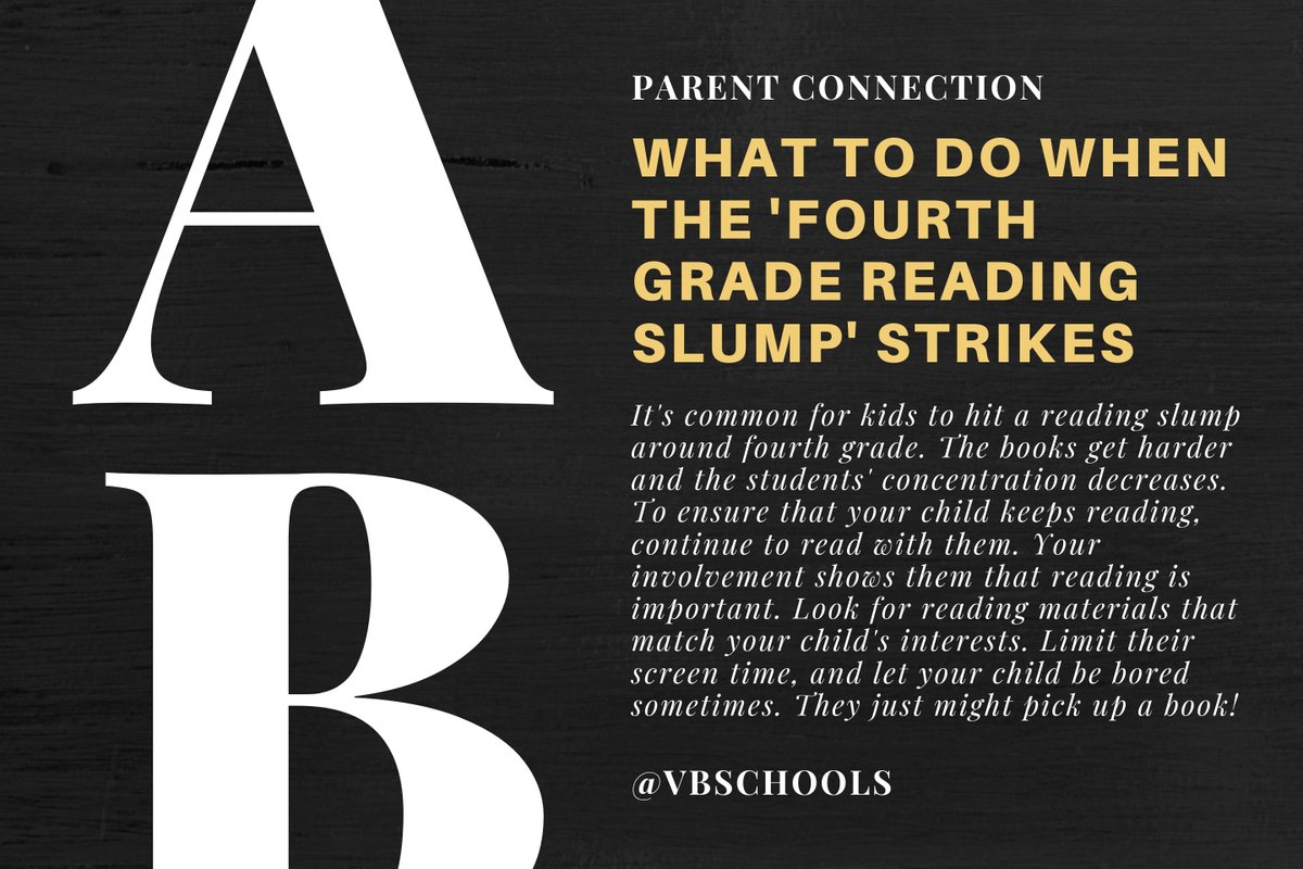 Parent Connection Tip of the Day: What to do when the 'fourth-grade reading slump' strikes. niswc.com/15lSC307910