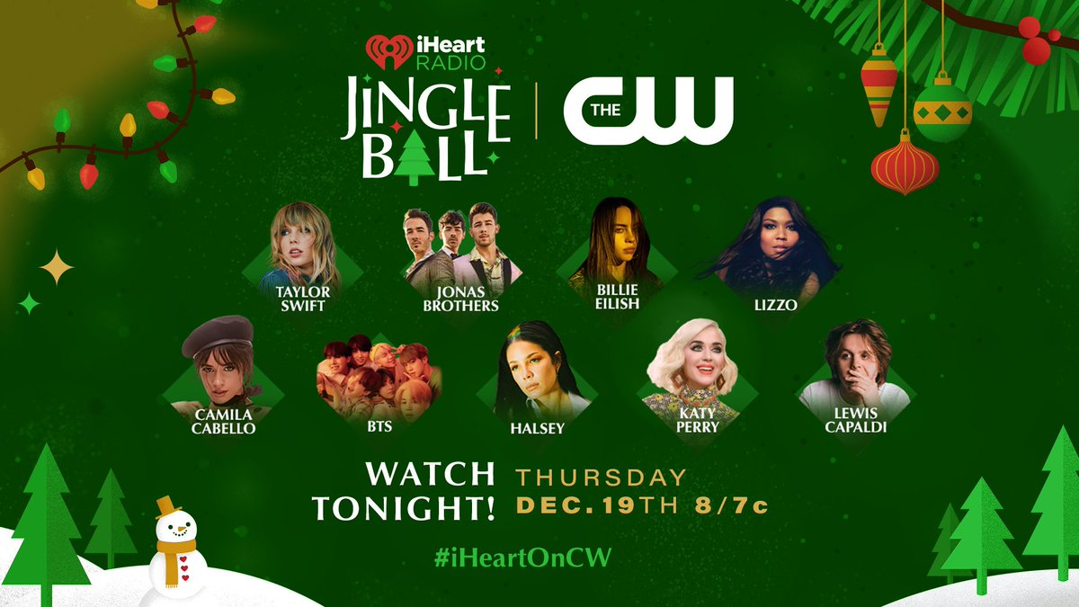 TONIGHT! Tune in to our 2019 iHeartRadio Jingle Ball special at 8/7c only on @TheCW! ✨ Whose performance are you most excited for? #iHeartOnCW
