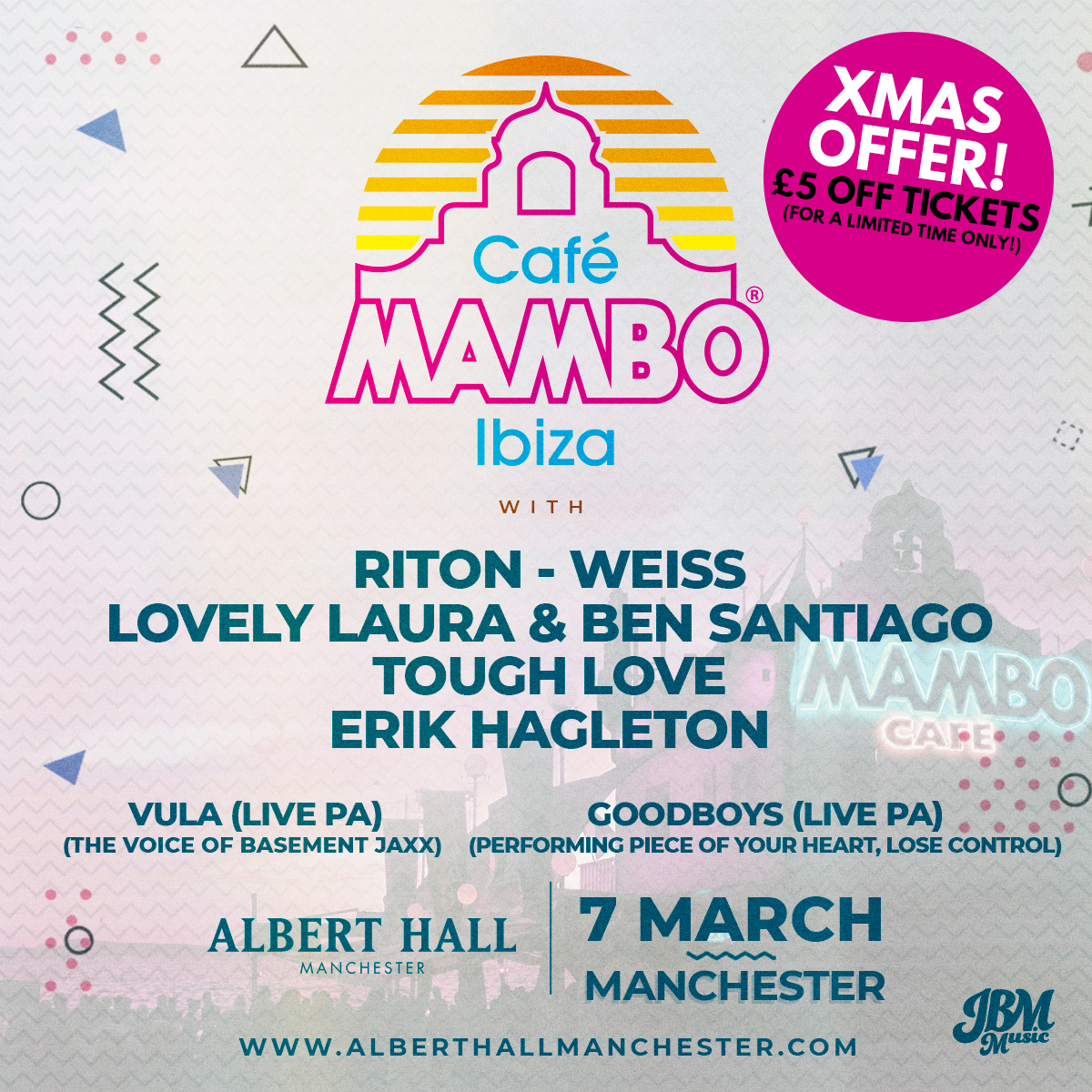 🌇Tickets for CAFE MAMBO are £5 OFF for a limited time only, grab one right about now: bit.ly/35E13MP🌇