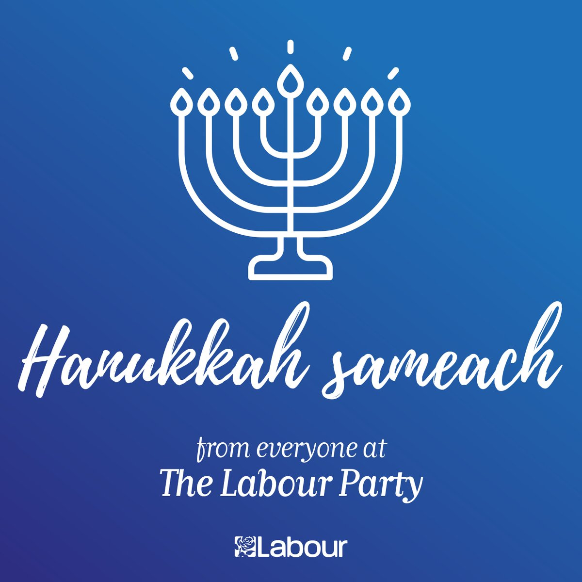 As Jewish people here in Britain and all over the world light the first candle of the menorah this evening, we wish you all a very happy #Hanukkah.