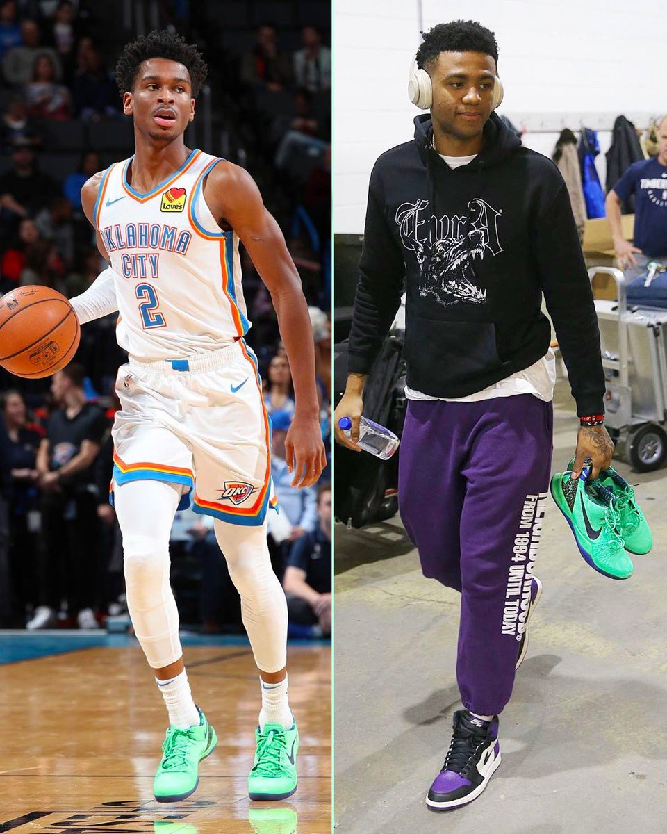"The cuzzos both wore ""Superhero"" Kobe 8s last night."