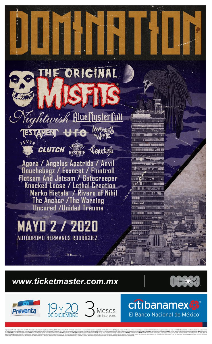 We are playing DOMINATION festival in Mexico City next year