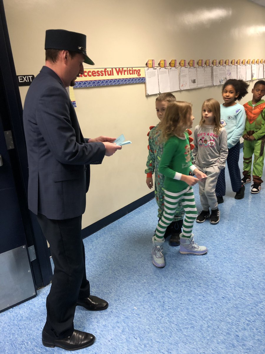 @NWElementary The Polar Express visited North Wales' 2nd grade classes today!