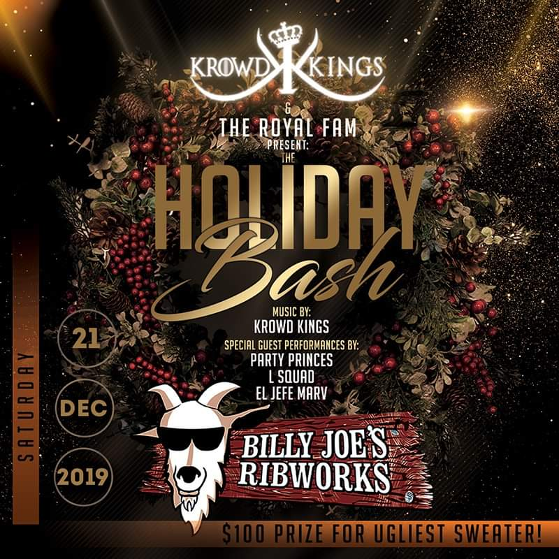 Saturday night! The Royal Fam is back in action at Billy Joe's on the Newburgh waterfront! Performances from the Krowd Kings, @party_princes06 @lsquadny @eljefemarv !! You already know how we do it!  #thepartyneverstops pic.twitter.com/tpQvzAaww5