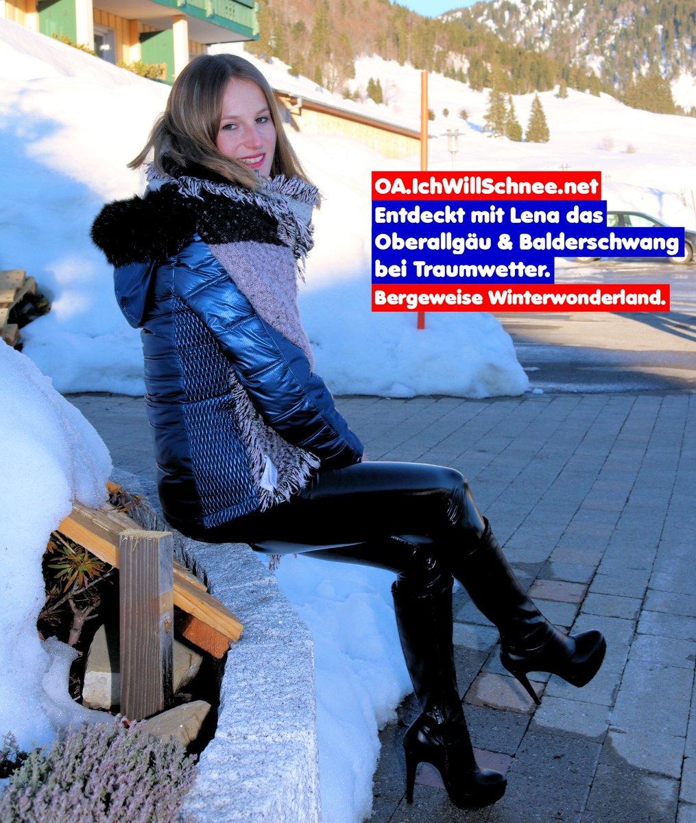 Kommt mit mir nach Balderschwang ins Oberallgäu und schaut auf dem Youtubekanal IchWillMehr TV was es dort alles zu sehen gibt :)  Küsschen Lena (LA)  @oberallgaeu #ShinyLena #IchWillSchnee #Winterwonderland #schnee #winter #lackleggings #skifahren #killtech #balderschwangpic.twitter.com/fniBKoDOxn