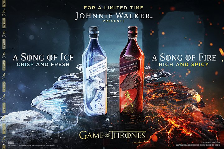 Cheers to @Diageo_News  on another successful campaign!  We're proud to have been a part it. #Mortlach #JWSongofIce #JWSongofFire<br>http://pic.twitter.com/GiyY9qC2E8