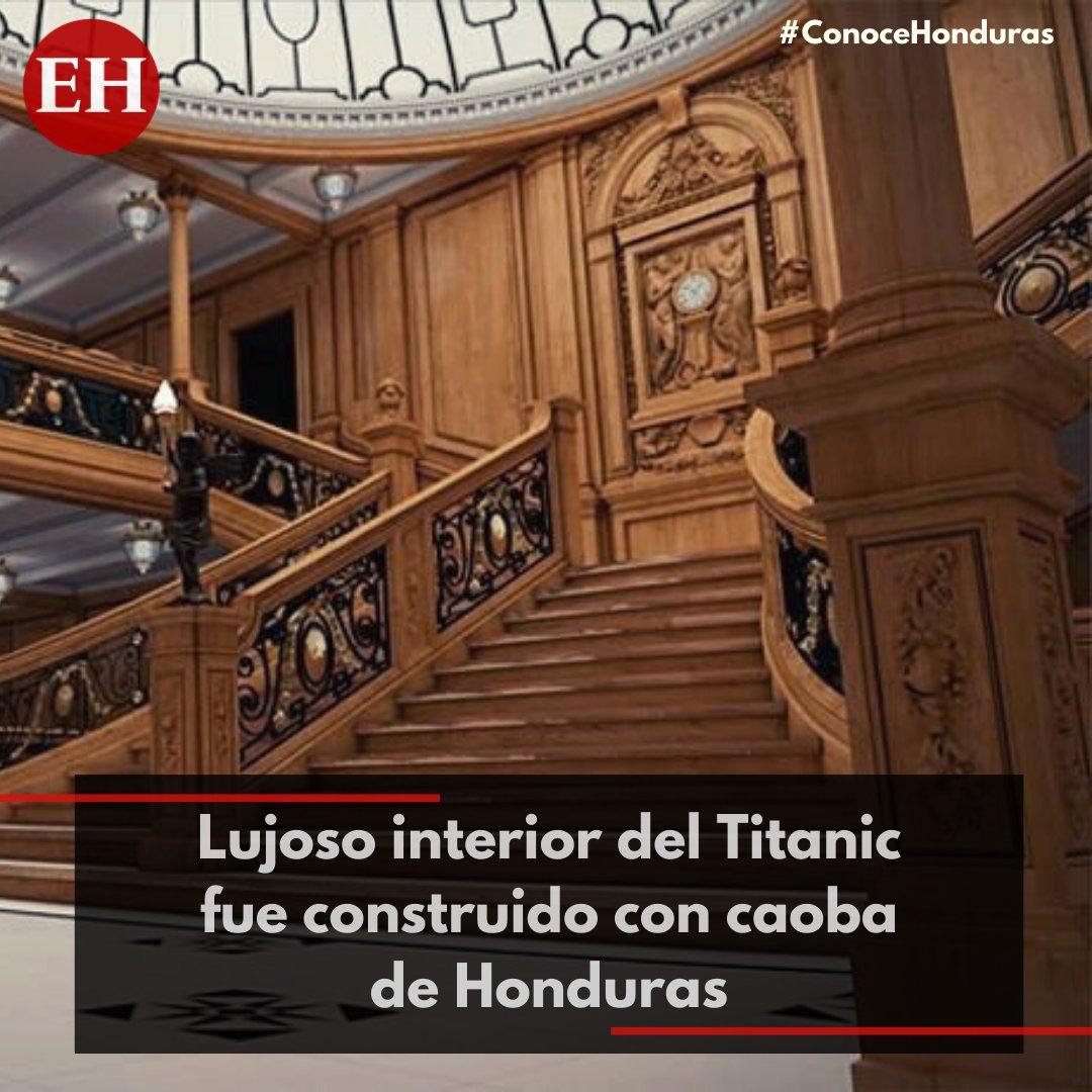 """#ConoceHonduras   Al llegar a La Mosquitia los europeos descubrieron la """"Honduras Mahogany"""" o caoba, considerada la mejor madera de ebanistería del mundo.  La fina madera se usó en el interior del famoso #Titanic"""