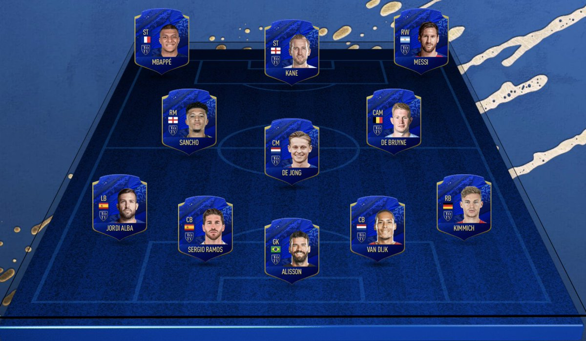 I've picked my @easportsfifa Team of the Year 👀 Now it's your turn! #TOTY #FIFA20 👉 https://t.co/E5X9tMjzB3 https://t.co/5fGZhZyivV