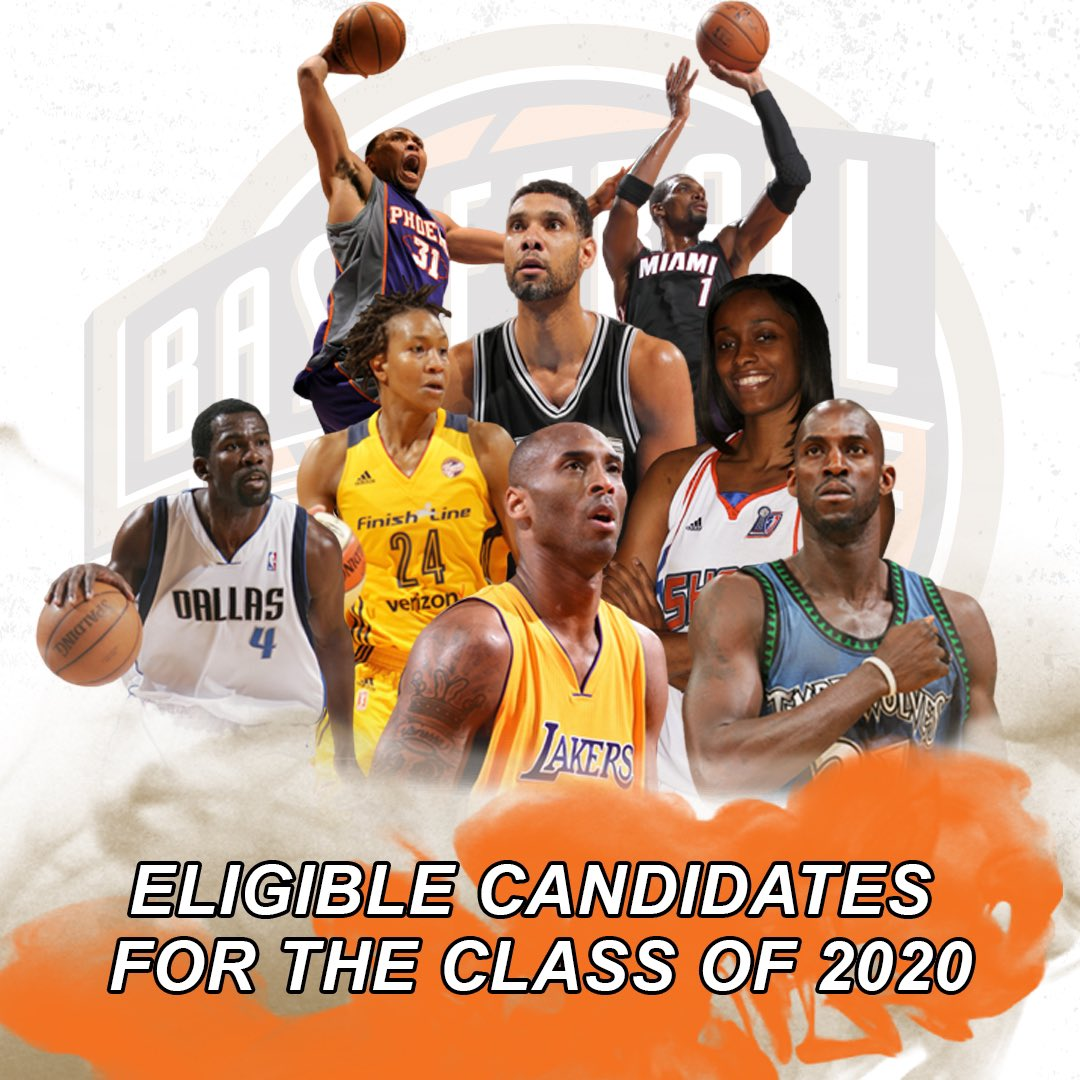 Naismith Memorial Basketball Hall of Fame Announces Eligible Candidates for the Class of 2020. #20HoopClass  📰: http://bit.ly/34EKvTi