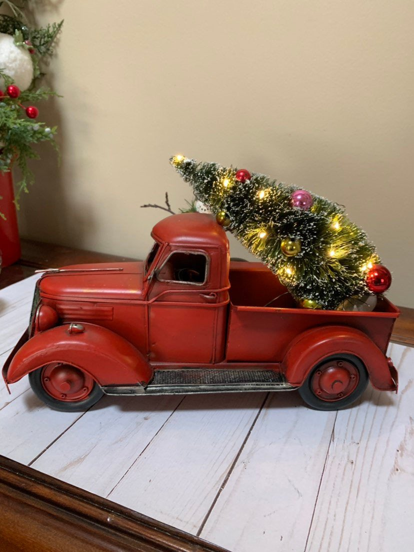 Lmdesignscreations On Twitter For Sale Red Truck Led Light Up Tree Multiple Setting Lights Red Metal Truck With Christmas Tree Large Vintage Metal Red Truck Primitive Decor Redmetaltruck Ledlighuptreeswithfunctions Guygift Allyeargift