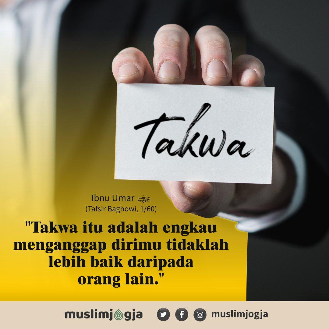 💡 Takwa itu adalah engkau tidak mengangap dirimu tidaklah lebih dari daripada orang lain.⠀ ➖➖➖➖➖➖➖➖➖➖➖➖➖➖➖➖➖➖⠀ 📔 Ibnu Umar -rahimahullah-, Tafsir Baghowi, 1/60⠀ https://t.co/v9XI4DYf6s