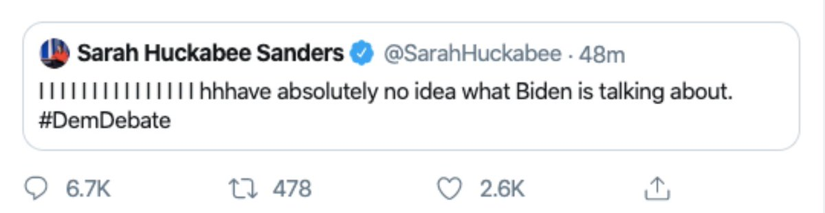 @SarahHuckabee Here's the tweet she deleted. Take a close look at how it's constructed and then decide if she did or didn't know. https://t.co/GCCTYJLO4c