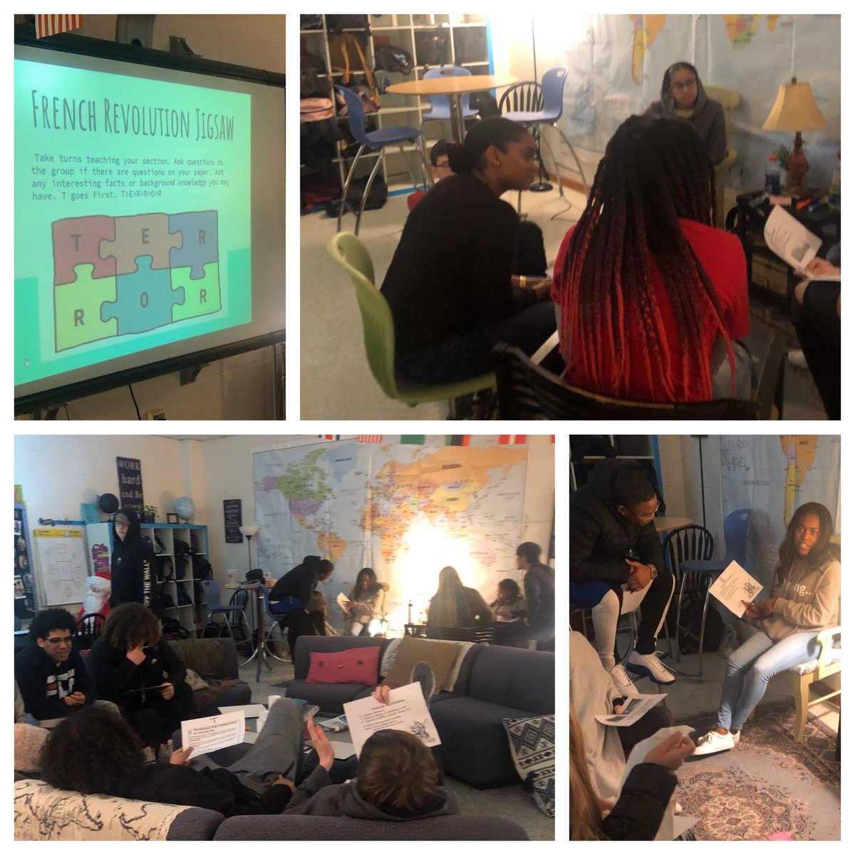 French Revolution jigsaw! @grcollegiate students teaching students and posing questions! 😍 @vbschools #VBSEL