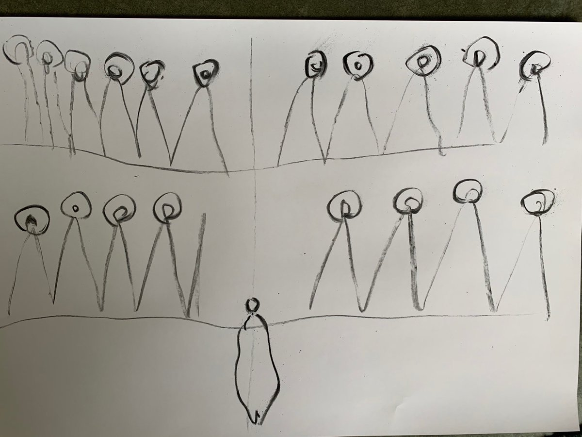 Vanessa Beecroft sketch