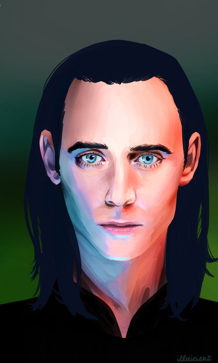 Face studies won over fanart, but the vote was fairly even. I compromised and did both  I loved working with the warm and cool tones in this piece.  #facestudy #fanart #loki #tomhiddleston #lokifanart #avengers #avengersfanart #digitalart #digitalpainting #artistsontwitterpic.twitter.com/9h3ZyRUbyG