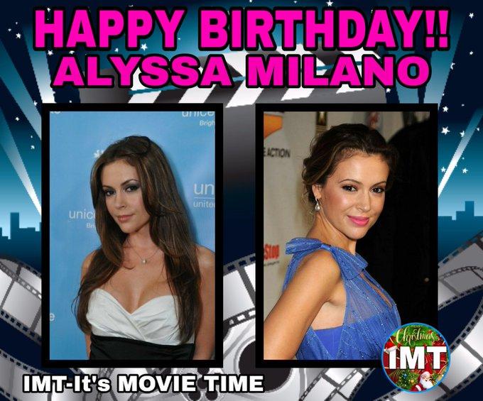 Happy Birthday to the Beautiful Alyssa Milano! The actress is celebrating 47 years.
