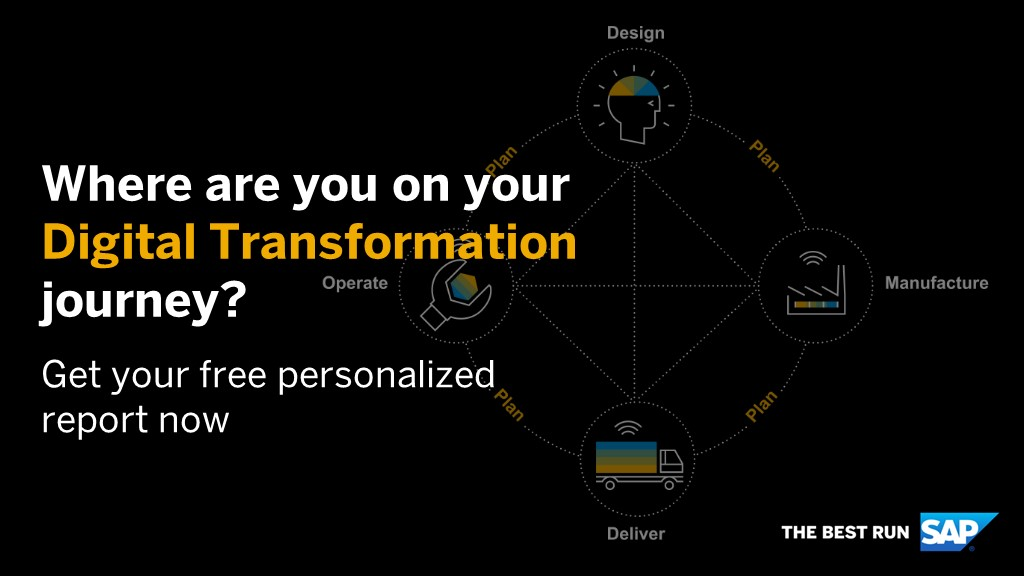 Is your business and #supplychain ready for its #digitaltransformation? Get your free customised report here: http://sap.to/60141OaS2