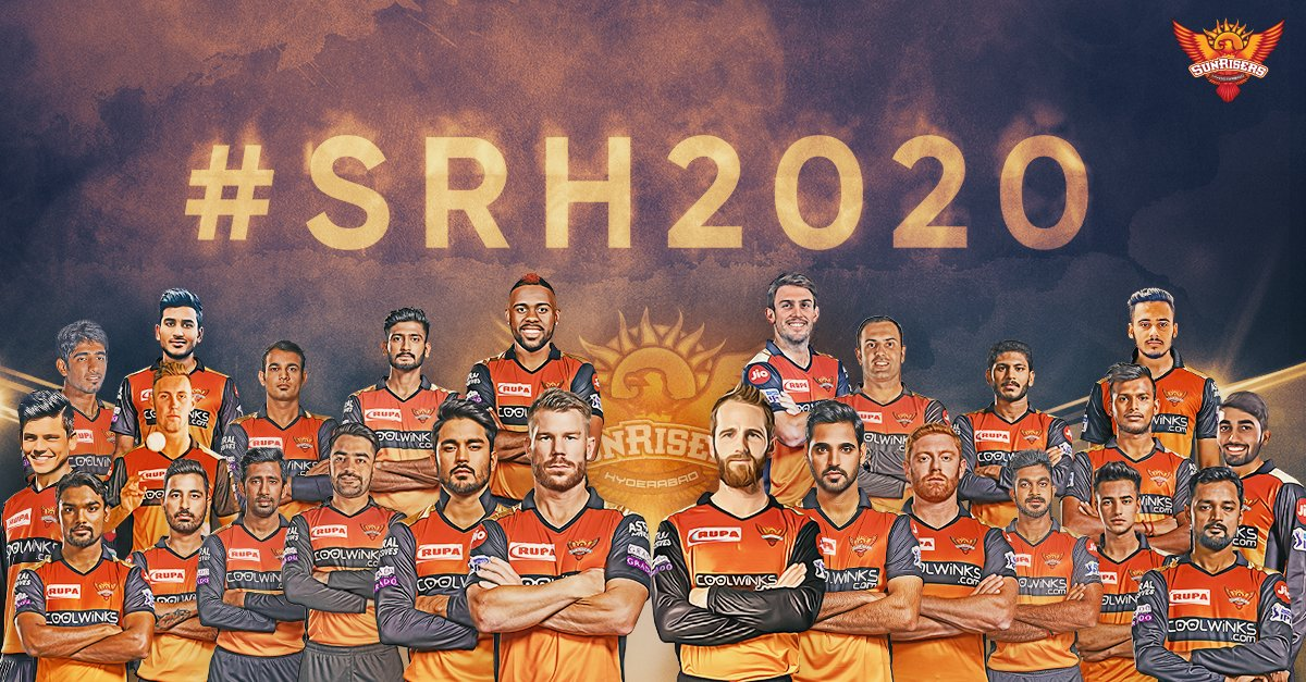 "SunRisers Hyderabad on Twitter: ""#OrangeArmy, presenting our squad for  #IPL2020! 🧡 #SRH2020Unlocked #SRH2020… """