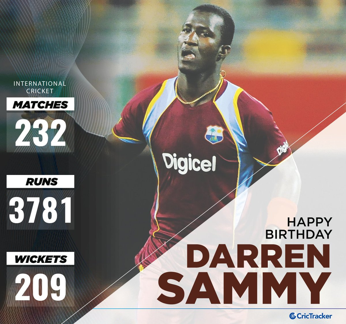 .@darensammy88, who led the West Indies to two T20 World Cup titles, is celebrating his 36th birthday today. Join us in wishing him a very happy birthday.