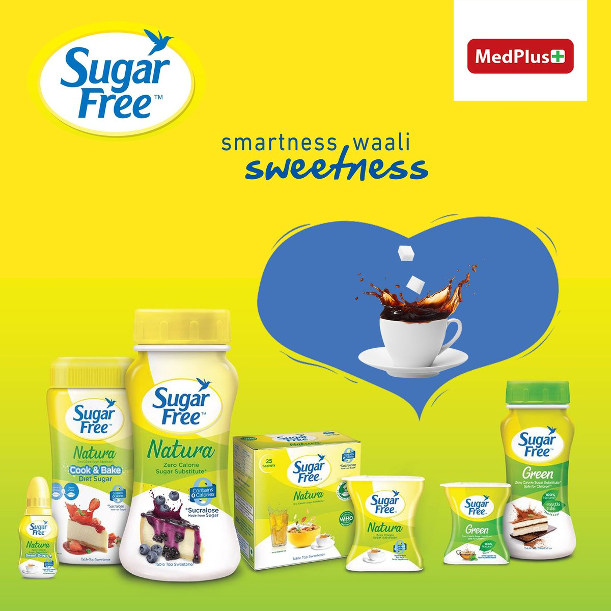 With lowcalories, live life kuch zyada https t.co rP8RVzSWlh Now at up to 25 OFF sugarfree medplusmart https t